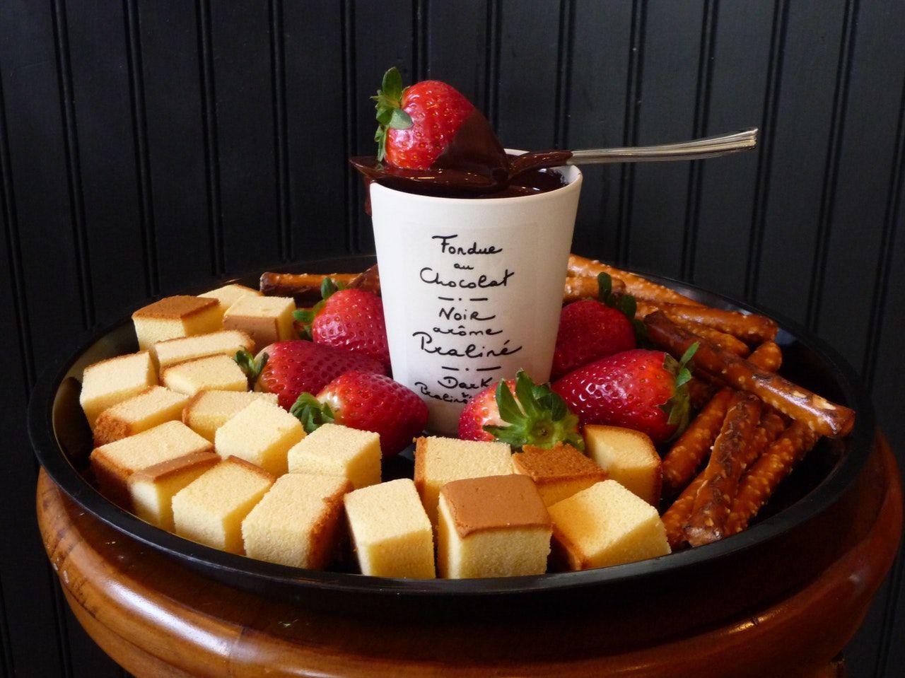 Cannabis infused chocolate fondue