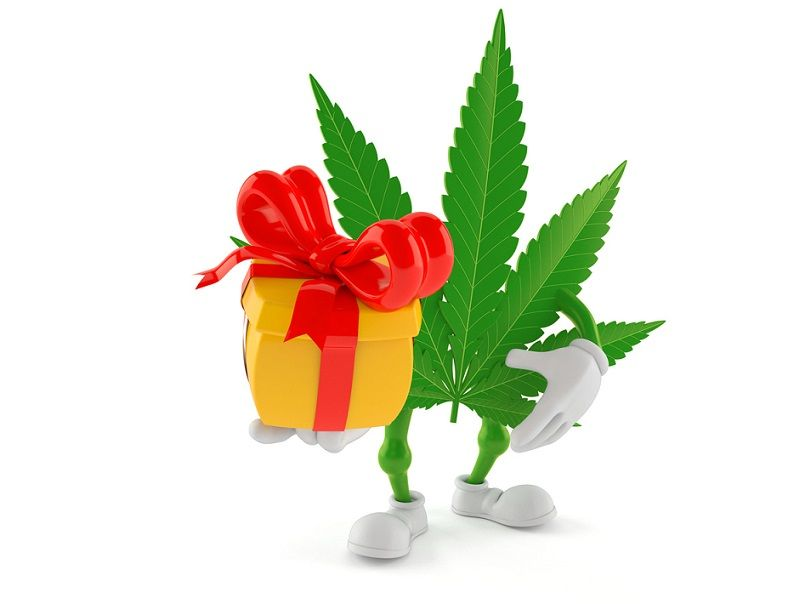 Pot leaf themed gift ideas for Canadians