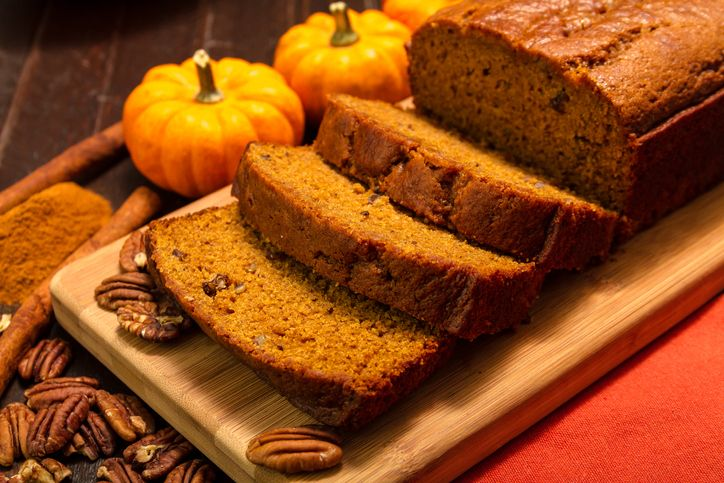 A fallinspired pumpkin bread recipe with cream cheese dip