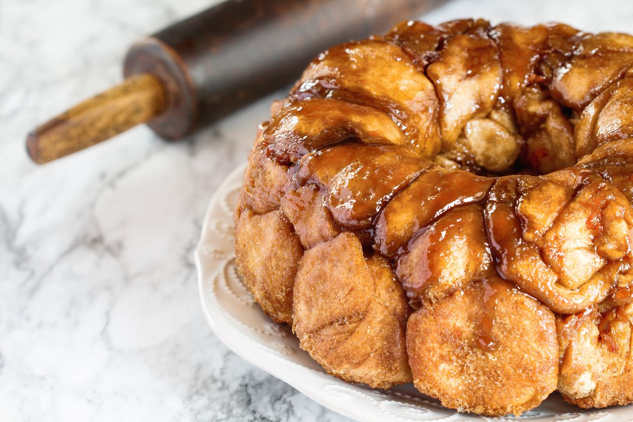 A homemade pullapart monkey bread recipe