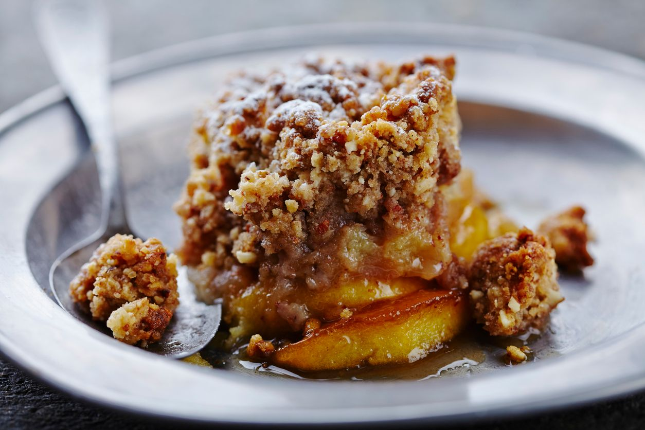 An oldfashioned apple crisp recipe with a kick