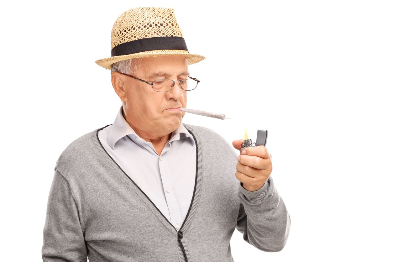 Can smoking weed help to ease the symptoms of ageing
