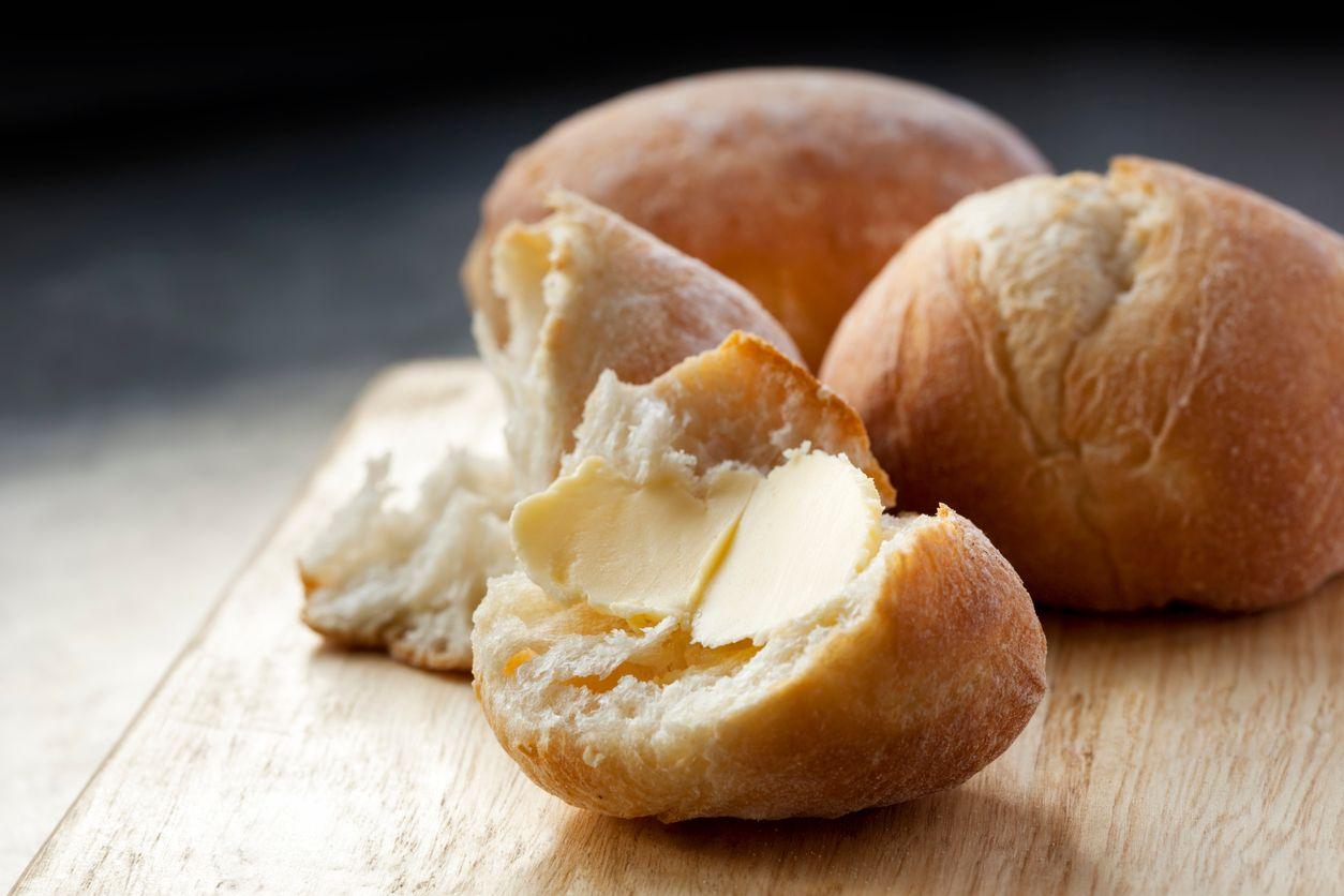 Homemade cannabutter rolls