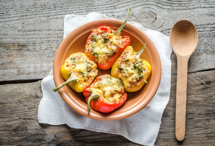 Taco stuffed peppers with cannabis recipe