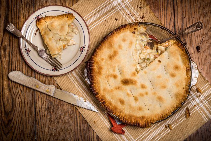 Chicken pot pie recipe with cannabutter