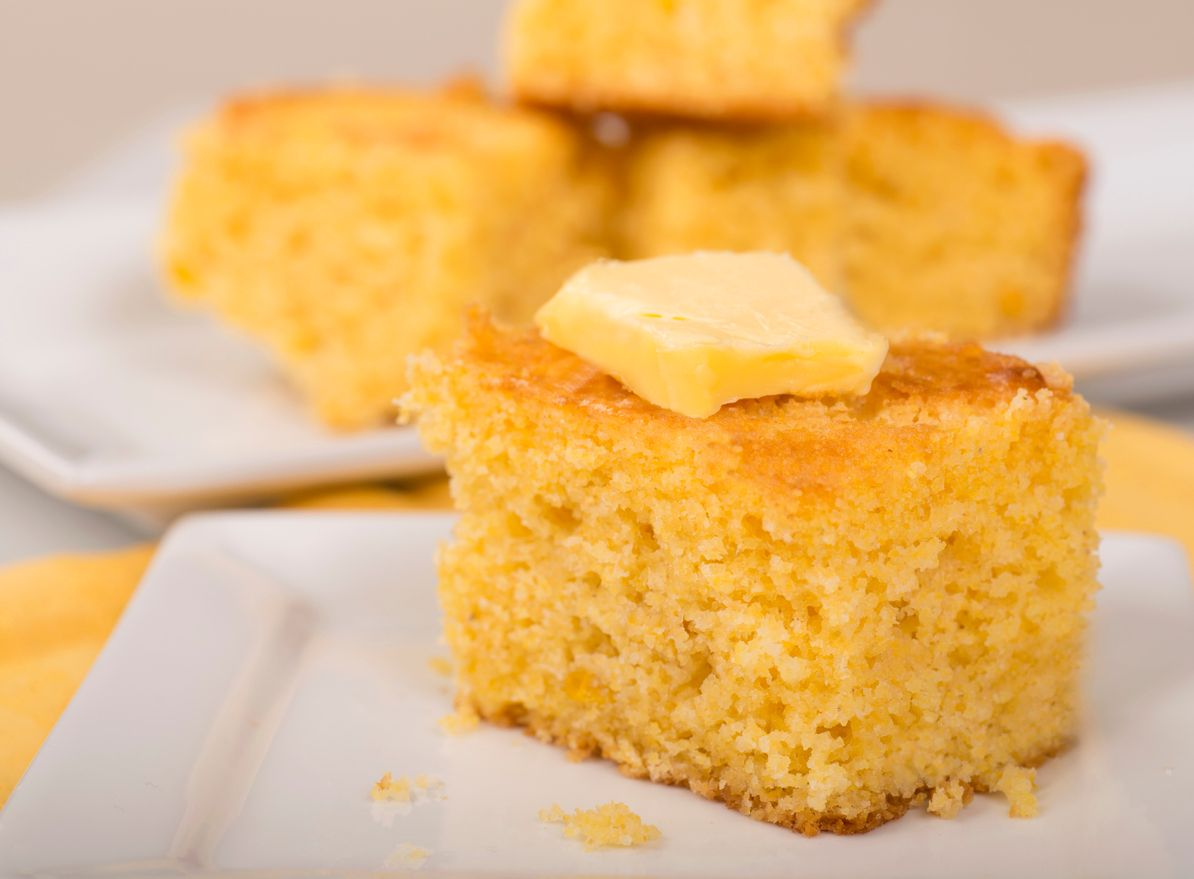 A light and fluffy cannabutter cornbread recipe