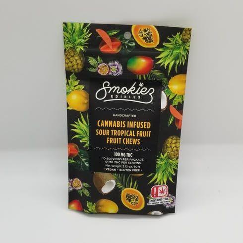 feature image 100mg Sour Tropical Fruit Gummies