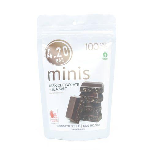 feature image  Dark Chocolate Sea Salt - 100mg - Evergreen Herbal