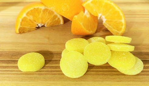 feature image 20pk Tangerine THC Chews 5mg