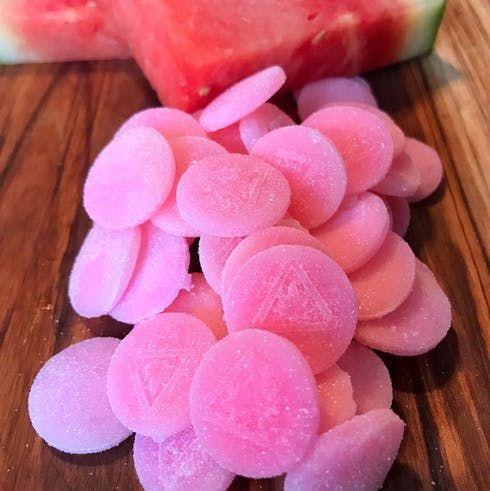 feature image 20pk. Watermelon CBD Chews 2:1 5mg