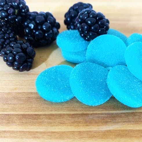 feature image 20pk Blue Raspberry THC 5mg Chews