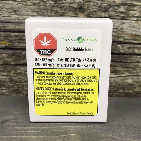 feature image BC Bubble Hash 1g - Canna Farms