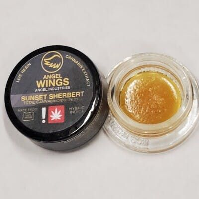 feature image (Angel Wings) Sunset Sherbert 1g Live Resin