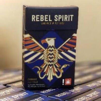 feature image ( Rebel Spirit) Swiss/Thunderbird Rose .5g Preroll 10 Pack