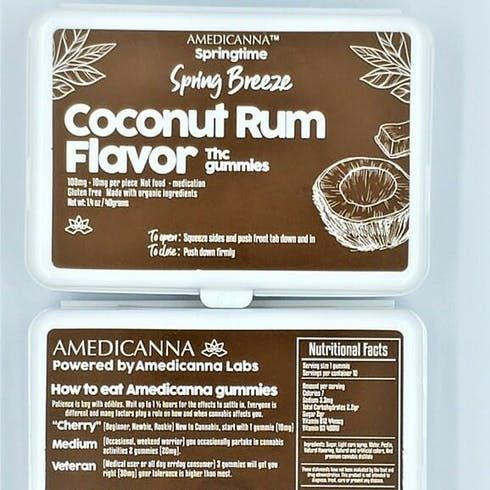 feature image Amedicanna- Coconut Rum Flavored Gummies