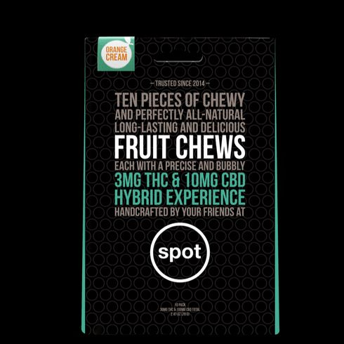 feature image 3:10 THC/CBD- Orange Cream Fruit Chew HYBRID (spot) 10pk