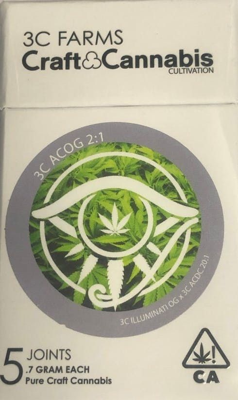 feature image 3C Farms | Preroll 5-Pack - AC/OG