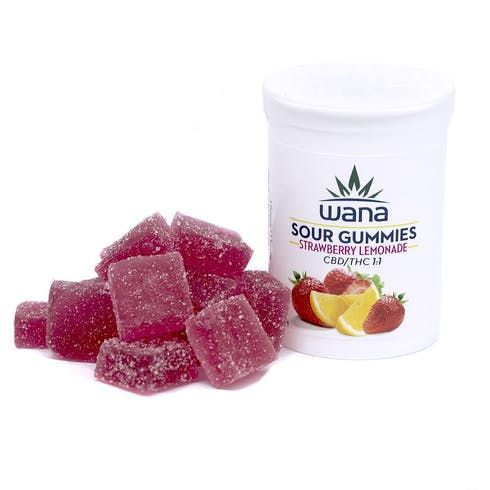 feature image 10pk Gummies | 1:1 Sour Strawberry Lemonade