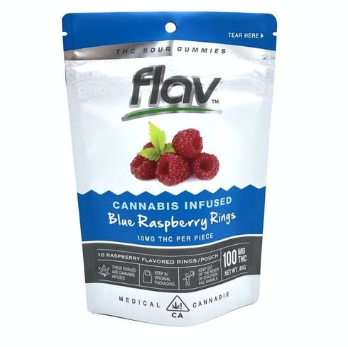 feature image 100mg Blue Raspberry Rings - Flav