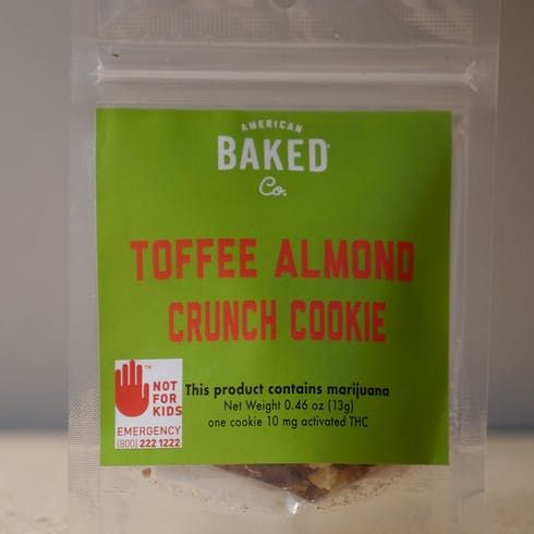 feature image ABC Toffee Almond Crunch Cookie 10mg