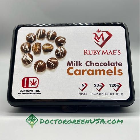 feature image 120mg pack Milk Chocolate Caramels