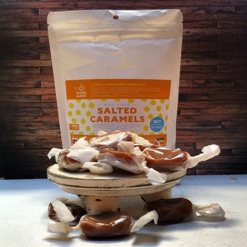 feature image (10) 10mg Salted Caramels - Buzzed Bakery