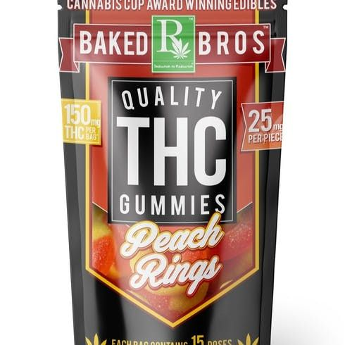 feature image Baked Bros | Peach Rings | Indica