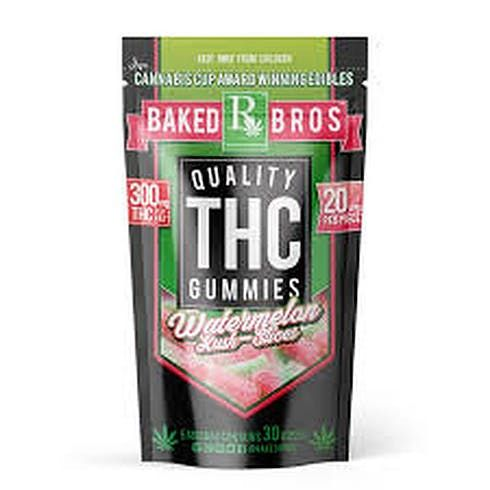 feature image Baked Bros Watermelon Kush Slices 300mg