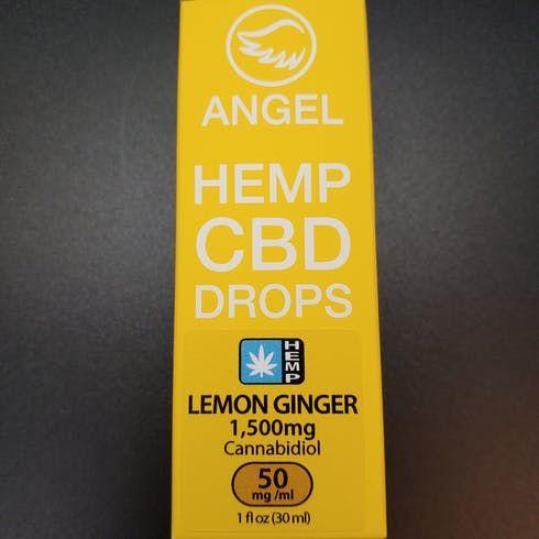 feature image Angel - Lemon Ginger Hemp CBD Drops - 1500mg