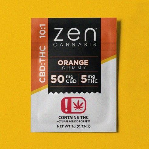 feature image  Zen Orange Gummy 10:1 CBD/THC