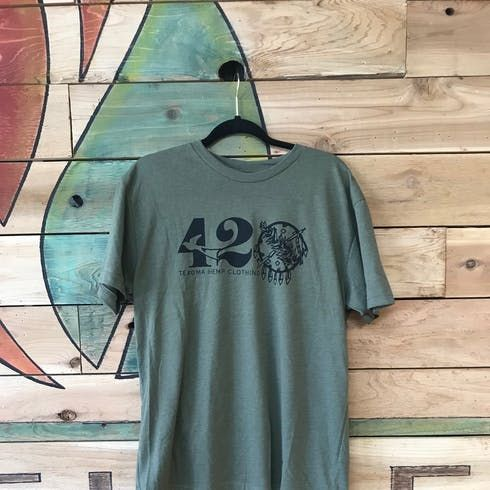 feature image 420 Military Green Tee - 2XL