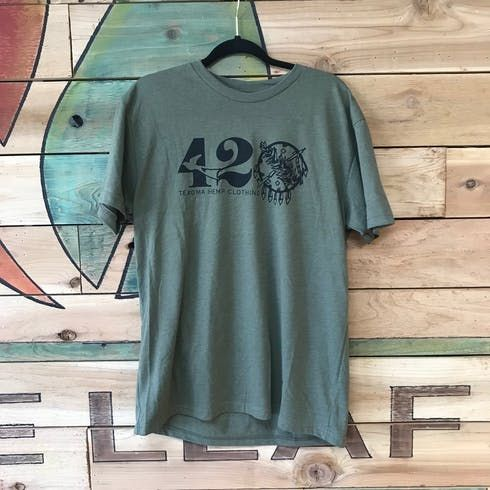 feature image 420 Military Green Tee - Small