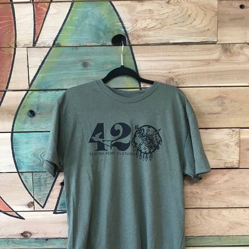feature image 420 Military Green Tee - XL