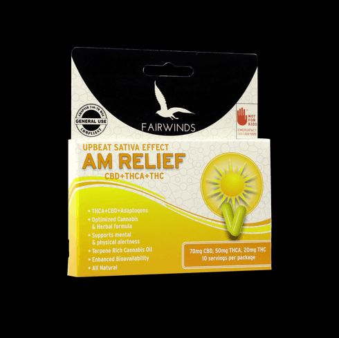feature image AM Relief - 140mg - Capsules - Fairwinds