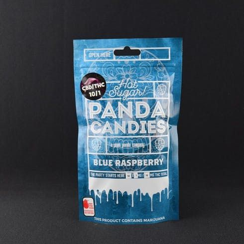 feature image 10:1 Blue Raspberry Panda Candies 100mg - Phat Panda