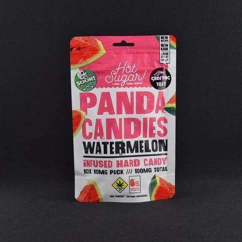 feature image 10:1 Sour Watermelon Panda Candies 100mg - Phat Panda