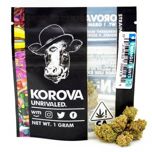 feature image 1g - Triangle Mints (Sativa-Hybrid) - Korova Flower