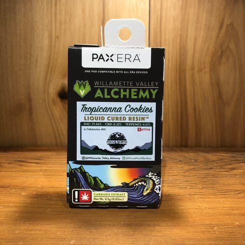 feature image (Pax) Tropicanna Cookies 0.5g Liquid Cured Resin Cartridge