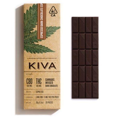 feature image Kiva - Espresso Dark Chocolate 1:1 (200mg)