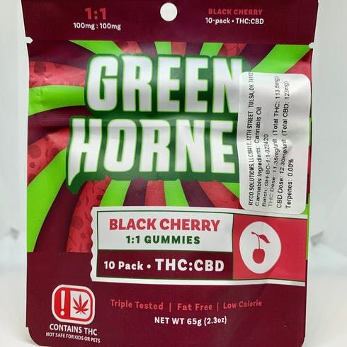 feature image 1:1 Gummies/100mgTHC/100mgCBD/Black Cherry (TAXES INCLUDED)