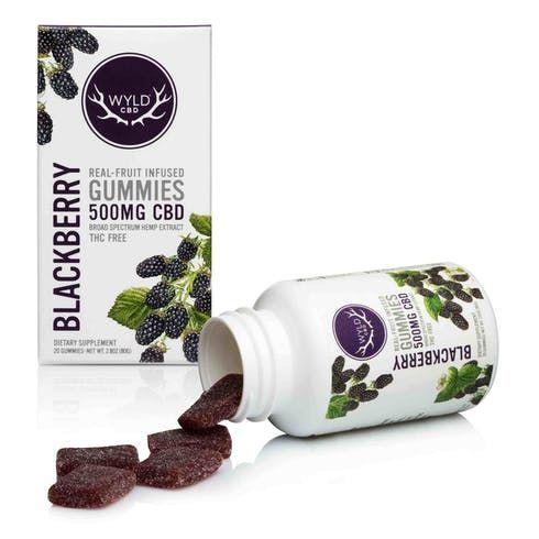 feature image 500 mg. CBD Gummies - Blackberry