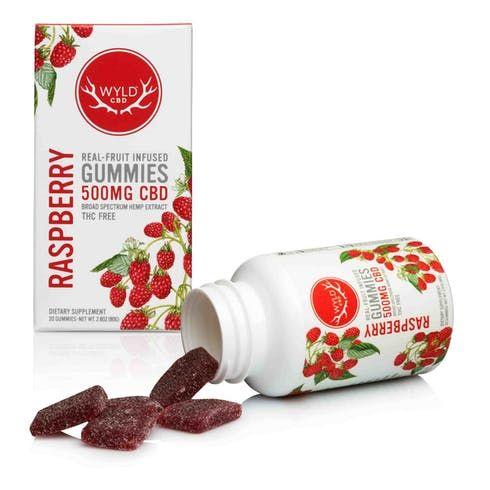 feature image 500 mg. CBD Gummies - Raspberry