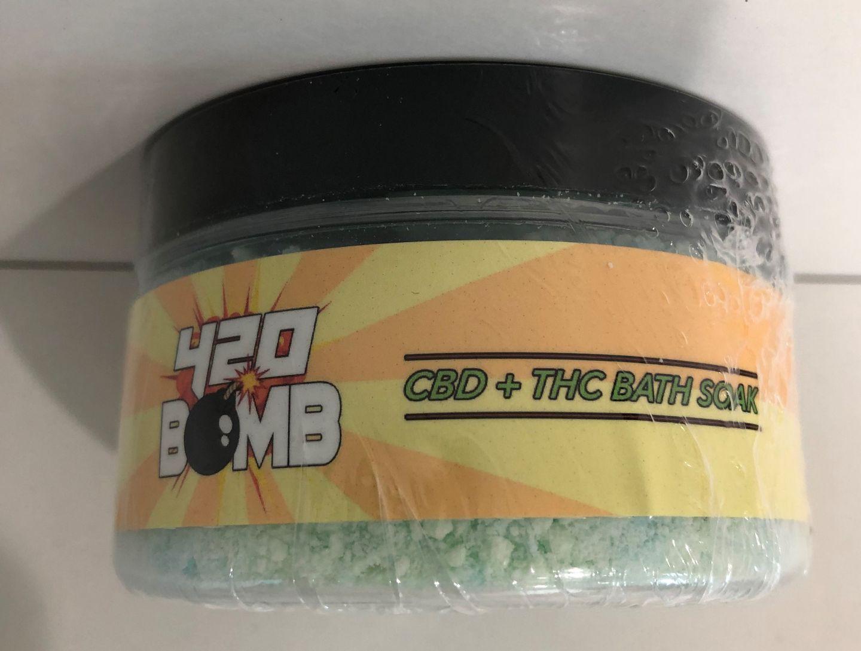 feature image 420 Bomb CBD+THC Bath Soak