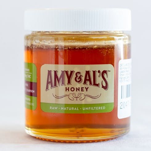 feature image Amy and Al's THC Infused Raw Honey 300mg