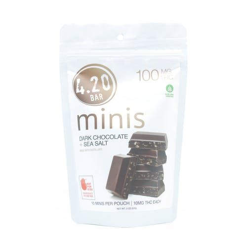 feature image 4.20 Minis Dark Chocolate Sea Salt