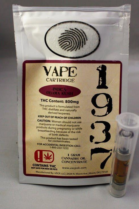 feature image 1937 Obama Kush Cartridge 1g