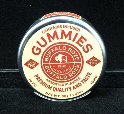 feature image Buffalo Roze 100mg Gummies