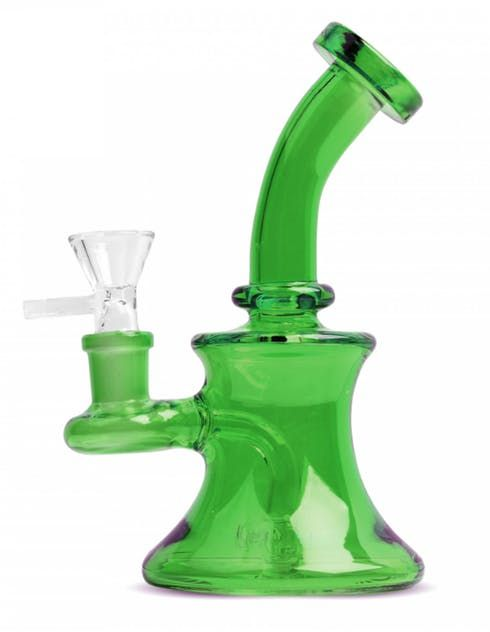 """feature image 5"""" Day Glow Bubbler - Dark Green"""