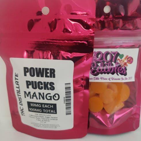 feature image 100mg Power Pucks - Mango