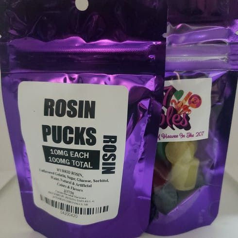 feature image 100mg Rosin Pucks - Assorted